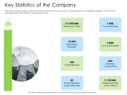 Hybrid Financing Pitch Deck Key Statistics Of The Company Ppt Guidelines