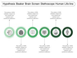 Hypothesis Beaker Brain Screen Stethoscope Human Life Line