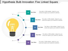 Hypothesis Bulb Innovation Five Linked Square