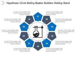 Hypothesis Circle Boiling Beaker Bubbles Holding Stand