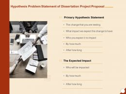 Hypothesis Problem Statement Of Dissertation Project Proposal Ppt Powerpoint Presentation