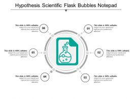 Hypothesis Scientific Flask Bubbles Notepad