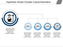Hypothesis Simple Complex Casual Associative