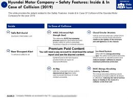 Hyundai Motor Company Safety Features Inside And In Case Of Collision 2019