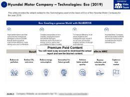 Hyundai Motor Company Technologies Eco 2019