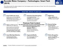 Hyundai Motor Company Technologies Smart Tech 2019