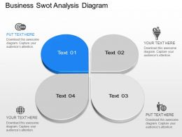 Ia Business SWOT Analysis Diagram Powerpoint Template