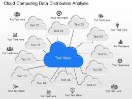 ia Cloud Computing Data Distribution Analysis Powerpoint Template