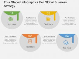 Ia Four Staged Infographics For Global Business Strategy Flat Powerpoint Design