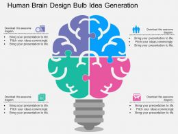 Ia Human Brain Design Bulb Idea Generation Flat Powerpoint Design