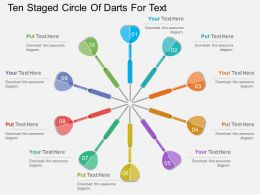 ia Ten Staged Circle Of Darts For Text Flat Powerpoint Design