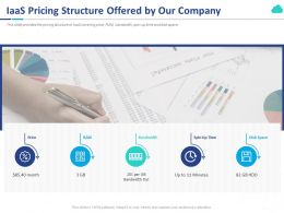 IaaS Pricing Structure Offered By Our Company Ppt Powerpoint Presentation Show Template