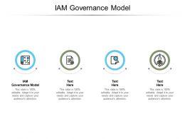 IAM Governance Model Ppt Powerpoint Presentation Portfolio Inspiration Cpb
