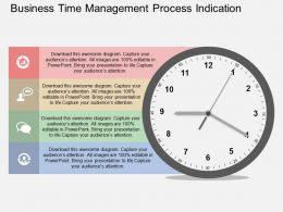 ib Business Time Management Process Indication Flat Powerpoint Design