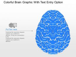ib Colorful Brain Graphic With Text Entry Option Powerpoint Template