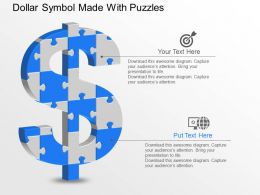 ib Dollar Symbol Made With Puzzles Powerpoint Template