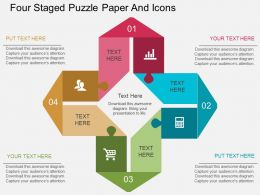 ib Four Staged Puzzle Paper And Icons Flat Powerpoint Design