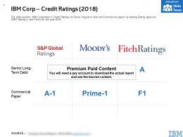 IBM Corp Credit Ratings 2018