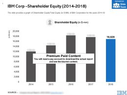 IBM Corp Shareholder Equity 2014-2018
