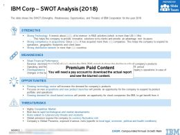 IBM Corp Swot Analysis 2018