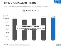 IBM Corp Total Assets 2014-2018