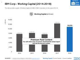 IBM Corp Working Capital 2014-2018