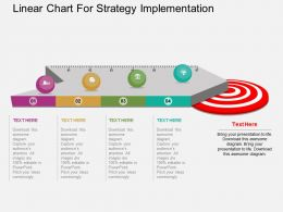 Ic Linear Chart For Strategy Implementation Flat Powerpoint Design
