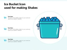 Ice Bucket Icon Used For Making Shakes