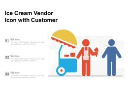 Ice Cream Vendor Icon With Customer