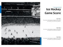 Ice Hockey Game Score