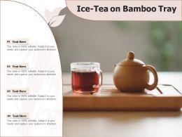 Ice Tea On Bamboo Tray
