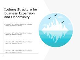 Iceberg Structure For Business Expansion And Opportunity