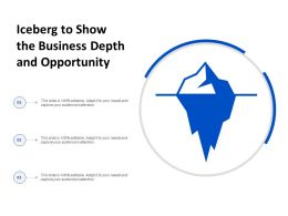 Iceberg To Show The Business Depth And Opportunity