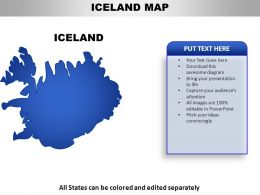 Iceland Country PowerPoint Maps