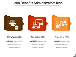 Icon Benefits Administrators Icon Powerpoint Slide Designs