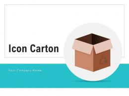 Icon Carton Illustrating Indicating Products Shipment Representing Documents