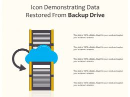 Icon Demonstrating Data Restored From Backup Drive