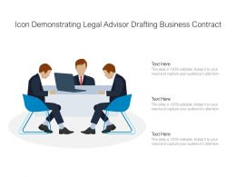 Icon Demonstrating Legal Advisor Drafting Business Contract