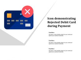 Icon Demonstrating Rejected Debit Card During Payment