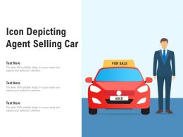 Icon Depicting Agent Selling Car