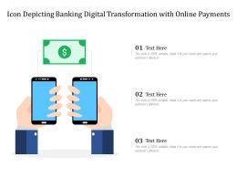 Icon Depicting Banking Digital Transformation With Online Payments