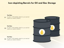 Icon Depicting Barrels For Oil And Gas Storage