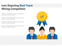 Icon Depicting Best Team Wining Competition