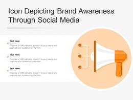 Icon Depicting Brand Awareness Through Social Media
