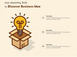 Icon Depicting Bulb To Discover Business Idea