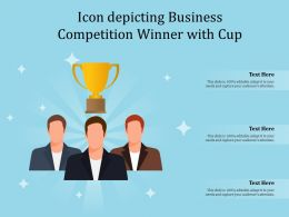 Icon Depicting Business Competition Winner With Cup
