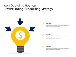 Icon Depicting Business Crowdfunding Fundraising Strategy