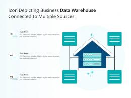 Icon Depicting Business Data Warehouse Connected To Multiple Sources