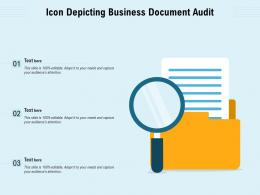 Icon Depicting Business Document Audit