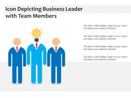 Icon Depicting Business Leader With Team Members